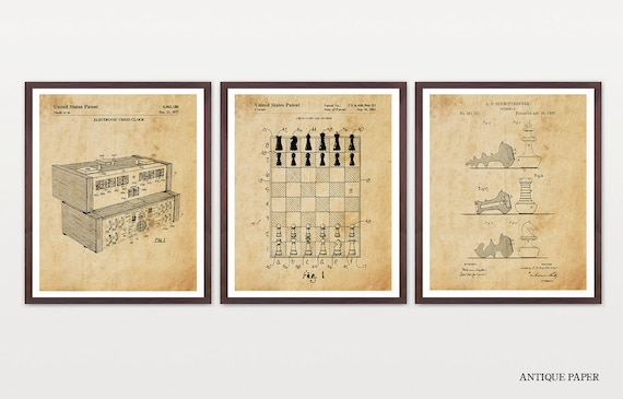 Chess Patent Art - Chess Wall Art - Chess Poster - Chess Decor - Chess Patent - Chess Board - Chess Board Patent - Chess Club - Game Board