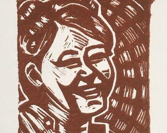 Kaylee (Firefly) Linocut Print