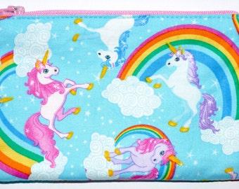 Unicorn Coin Purse Zipper Pouch Zippered Pouch Card Pouch Wallet Gift Idea