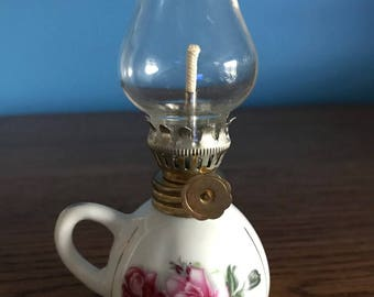 Vintage Mini Finger Oil Lamp