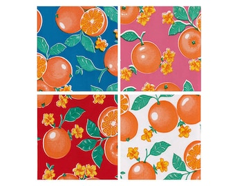 OilclothByTheYard Oranges Your Choice of Color