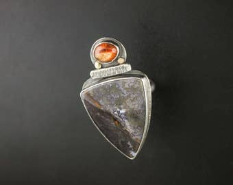 Burro Creek Jasper & Sunstone Statement Ring