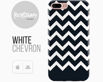 Black and White iPhone 8 Case, iPhone 7 Plus Case, iPhone X Case, SE, 5s, Pattern phone cover,Samsung Galaxy S8 Case, Chevron S7, S6 Case