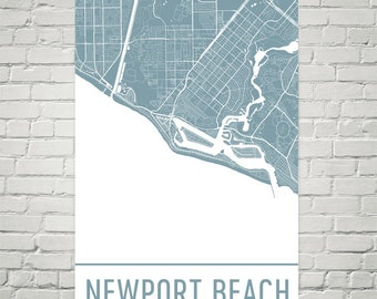 Newport beach map Etsy