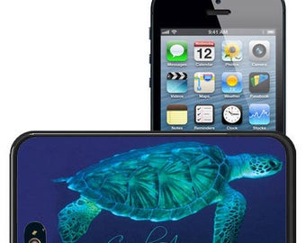 Personalized Rubber Case For iPhone X, 8, 8 plus, 7, 7 plus, 6s, 6s plus, 5, 5s, 5c, SE - Sea Turtle