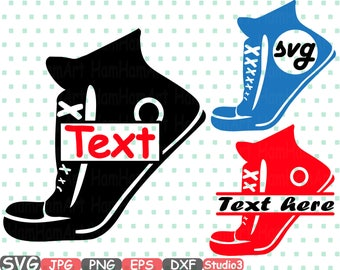 Sneakers Split & Circle SVG Silhouette Cutting Files sign icons Frame Cricut Design Sport Shoes Studio3 cameo vinyl monogram clipart 667s