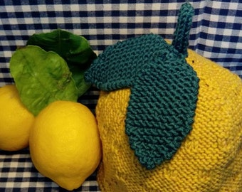 Lemon hat, knitted, for children of 6 months