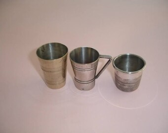 Spirit Measures Jiggers - Small Collection Of Three