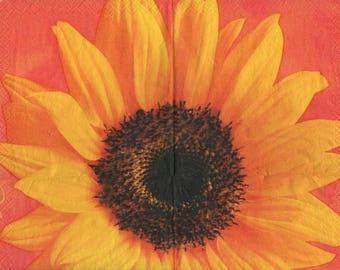 3247 - 1 napkin big sunflower flower