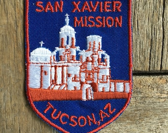 San Xavier Mission Tucson, Arizona Vintage Souvenir Travel Patch from Voyager