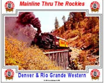 RAILROAD TIN SIGN - Denver and Rio Grande