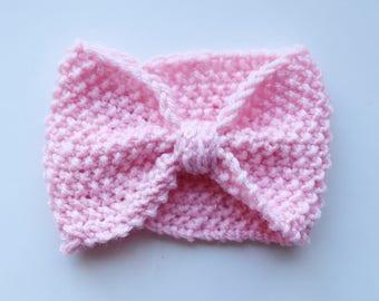 Girl Knit Headband, Girl Ear Warmers, Toddler Knit Headband Turban, Toddler Ear Warmers, Baby girl headband, baby girl ear warmer,