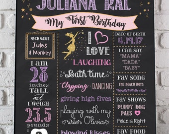 Star Birthday Chalkboard Sign, First Birthday Sign for 1st Birthday Party, Customized Printable Chalk Board Purple Pink Gold, Custom Sign