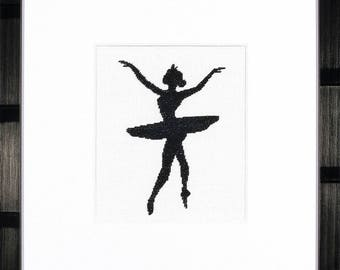 Counted Cross Stitch Kit Ballet Silhouette 3
