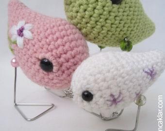 Crocheted Bird Family