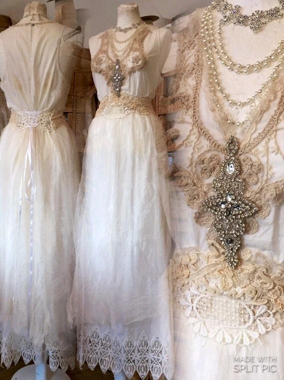 Flapper Hochzeitskleid einzigartige Hochzeit Kleid antike