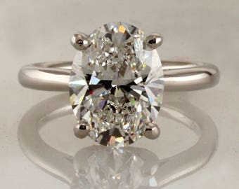 Engagement ring, (00806), Supernova Moissanite, Moissanite, Diamond solitaire, Custom made, 4 prongs, Other stone and metal available