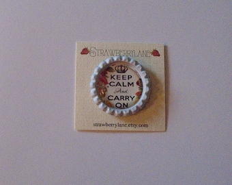 Bottlecap Needleminder-keep calm