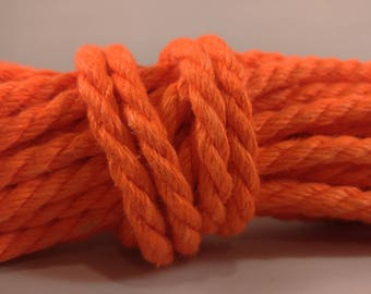 Bright Orange Hemp Bondage Rope