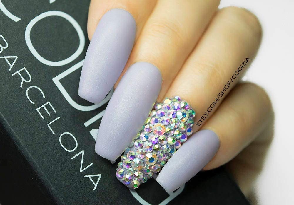 Coffin Press on | Nails | Swarovsky | Drag nails | Coffin nails ...
