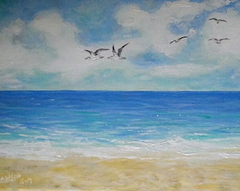 """Morning Flight Acrylic 9 by 12"""" wrapped Canvas"""