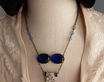 Art Deco Dress Clip/Antique Brooch/Rosary Necklace/Bridal