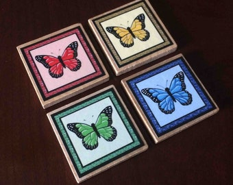 Monach Butterfly Magnets (set of 4)