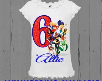DC Superher Girls Birthday Shirt - DC Super Hero Girls Birthday Shirt