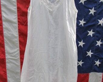 White Cotton Nightgown / Slip