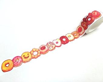 Donut Washi Tape - Donuts Washi Tape - Cute Washi Tape, 20mm x 7m