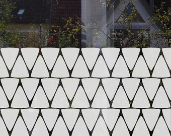 Triangle Window Privacy Film Geometric Privacy Decal Privacy Film for Bathroom Minimal Privacy Film Bathroom Window Decals Privacy