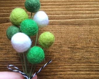Happy House Pom Cluster | St. Patrick's Day Greens
