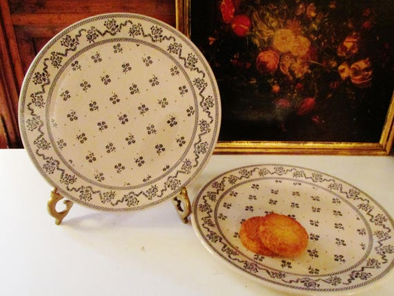 & Two Laura Ashley Petite Fleur Plates by Johnson Brothers