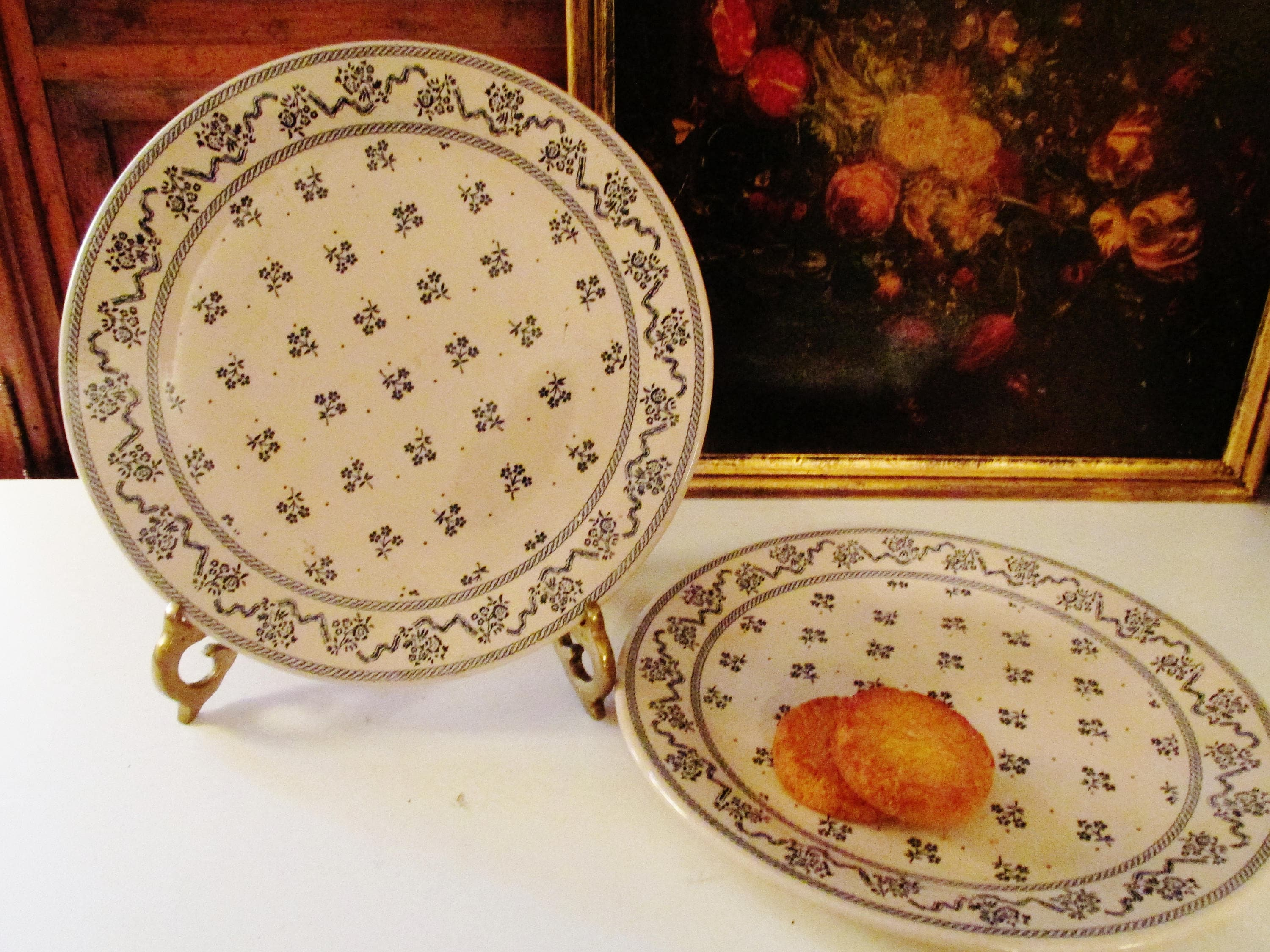 Two Laura Ashley Petite Fleur Plates by Johnson Brothers