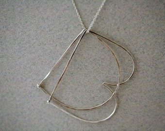 Double initial Necklace in S Silver