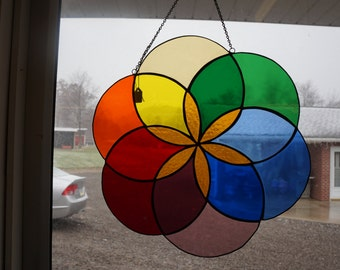 Stained Glass Circle of Life Panel
