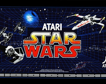 Star Wars Atari Marquee For Reproduction  Back Header/Backlit Sign