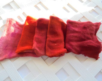 GRADIENT SOCK BLANK, Pink to Red Gradient with Birds, Superwash Merino Sock Yarn, Merino and Nylon Yarn, Art Blank, Knitting Yarn, Gradient
