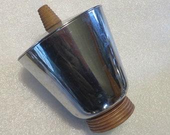 ArtDeco/Mid-Century Chrome Covered Jar