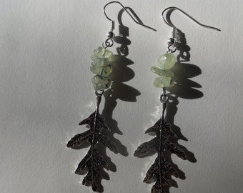 prehnite forest earrings