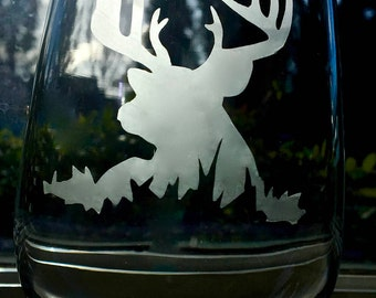Deer stemless wine glasses
