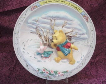 Whinnie The Pooh And Friends Vintage Bradford Exchange 3D  # B1003 Walt Disney 1996 collector plate retired 3/1998