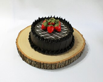 Balsa Cake Stand, Cake/Cupcake Plate, Slab Wedding Cake Stand, Wood Slice, Rustic Cake Slab, Rustic Wedding Decor, Cake Plate