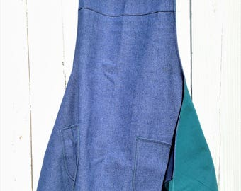 Handcrafted Men's Denim Fully Lined Utility Workshop Apron With Pockets|BBQ Kitchen Full Cooking Apron|Father's Day & Birthday Gift Ideas