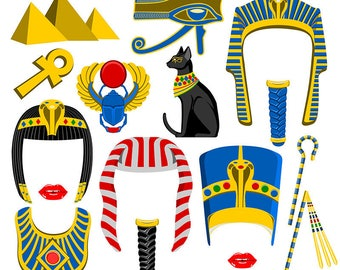 Egypt digital photo booth party props instan download
