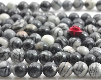 62 pcs of zebra jasper,  picasso jasper, DIY handmade jewelry,smooth round beads in 6mm