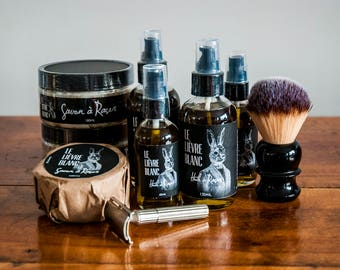Shaving Lubricants Kit - Shaving Oil and Shaving Soap - Superb Sensory Experience - Great Men Gift idea - Wet shaving - Father's Day