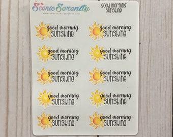 Good Morning Sunshine Planner Stickers