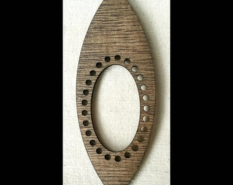 "Stitchable ""Pod"" Pendant, DIY, *Walnut/ Maple/ Ebony/ Red Chestnut/ Cherry Finish*"