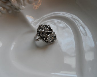 Sagitarius Ring Silvertone